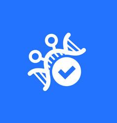 genetic engineering dna modification icon vector image