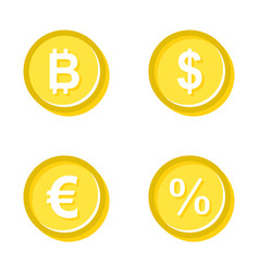 gold coins of different vector image