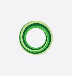 Green circle looped spiral icon logo abstract vector