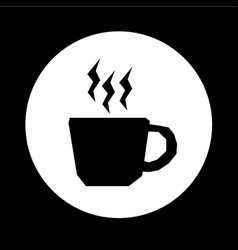 Hot coffee cup icon design vector