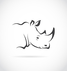 Image of rhino head vector