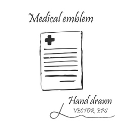 Medical document icon vector