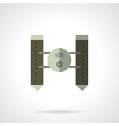 Military robots flat icon Floating vehicle vector