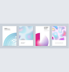 minimal brochure templates with dynamic shapes vector image