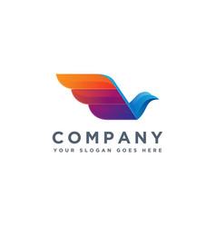 modern geometric pigeon logo icon template vector image