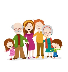 Of A Cute Family vector image