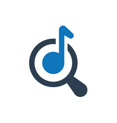 online audio search icon vector image