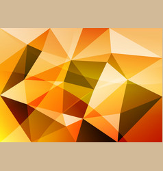 Orange triangle abstract background vector