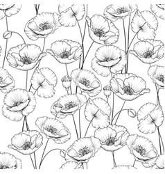 Pattern poppy vector