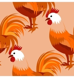 Pattern with cock vector