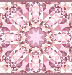 Pink seamless kaleidoscope pattern background vector