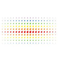 plant leaf spectral halftone pattern vector image