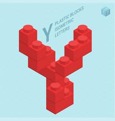 Plastic blocs letter y vector