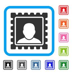 postal mark framed icon vector image