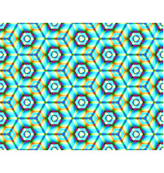 Psychedelic seamless picture of geometric shapes vector