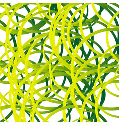 Random squiggle lines intersecting random circles vector
