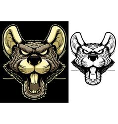 Rat mascot head vector
