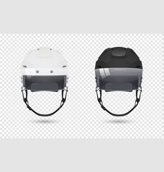 realistic classic ice hockey helmets with visor vector image
