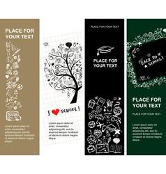 school banners vector image