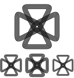 Science engineering loop symbol design set vector