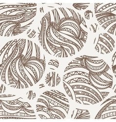 seamless hand-drawn pattern of contour vector image