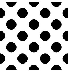 seamless pattern black white dotted texture vector image