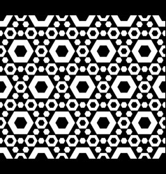 Seamless pattern perforated hexagons vector