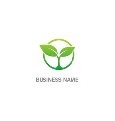 seed green leaf plant organic logo vector image