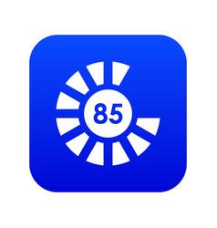 Sign 85 load icon digital blue vector