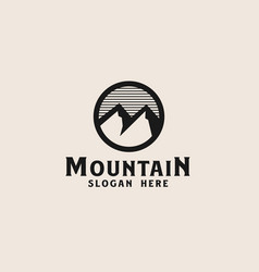 simple mountain logo template vector image