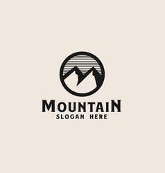 simple mountain logo template vector image