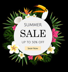 summer sale tropical banner vector image