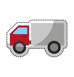 truck delivery isolated icon vector image
