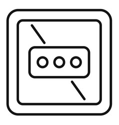 Type l power socket icon outline style vector