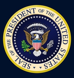 US Presidential Seal Color vector image