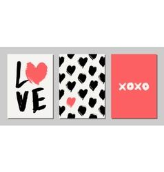 Valentines day designs set vector
