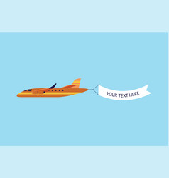 vintage plane or airplane with promo banner vector image