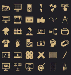 website icons set simple style vector image