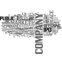 what is an ipo text word cloud concept vector image