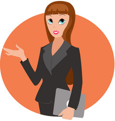 woman in business suit vector image