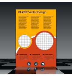 Business flyer design template vector image