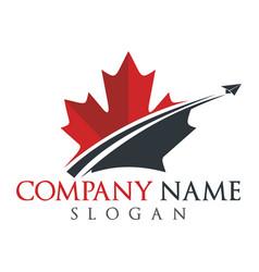 canada travel logo design vector image