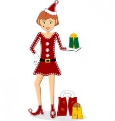Christmas elf vector image vector image