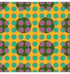 Green polka dot geometric seamless pattern vector image