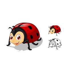 Ladybug Cartoon Character vector image
