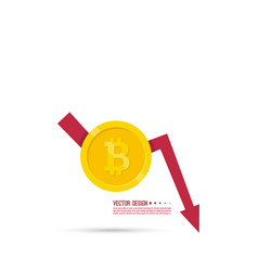 loss of points currency vector image vector image