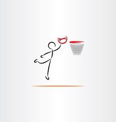 man playing basketball icon vector image