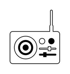 Radio sound device icon vector