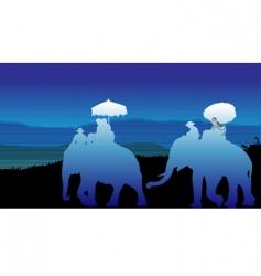 Thailand tourists vector image