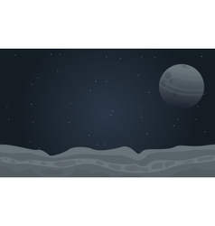At night outer space landscape vector